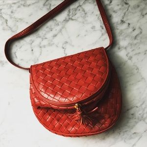 Vintage Bottega Veneta Creel Woven Shoulder Bag